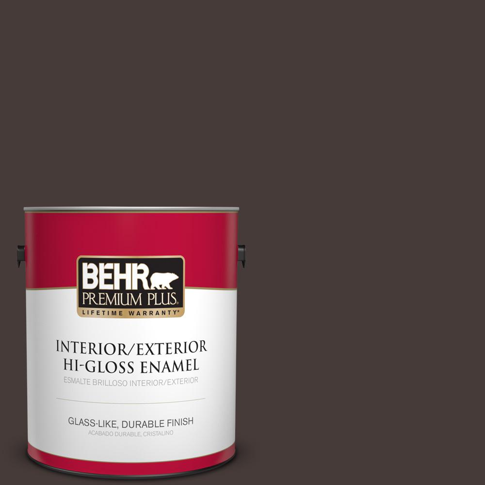 1 gal. #T18-04 Nocturne Shade Hi-Gloss Enamel Interior/Exterior Paint