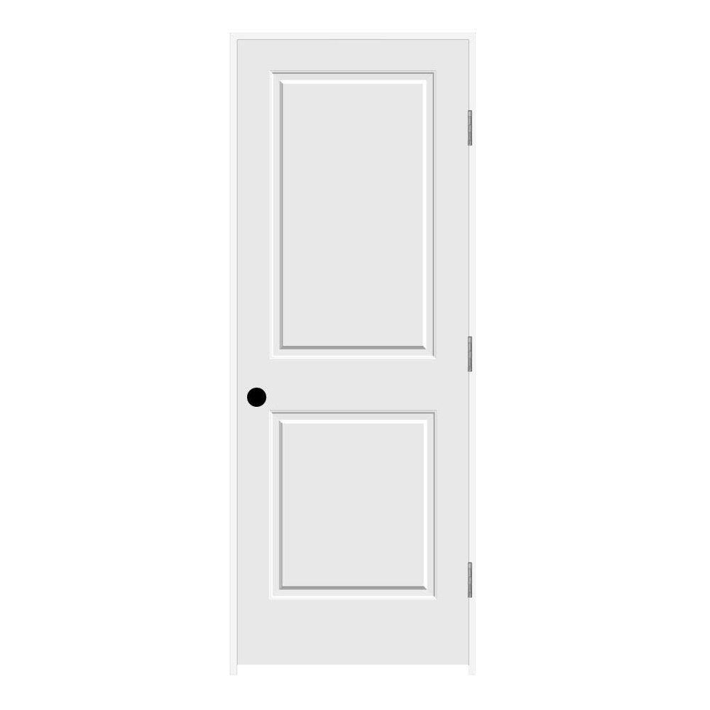 32 in. x 80 in. Primed Left-Hand C2020 2-Panel Square Top