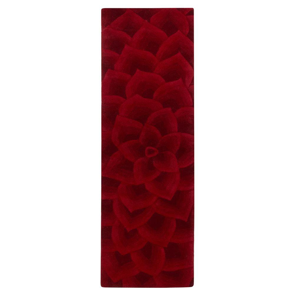 Home Decorators Collection Corolla Red 2 ft. 6 in. x 12 ft. Rug Runner