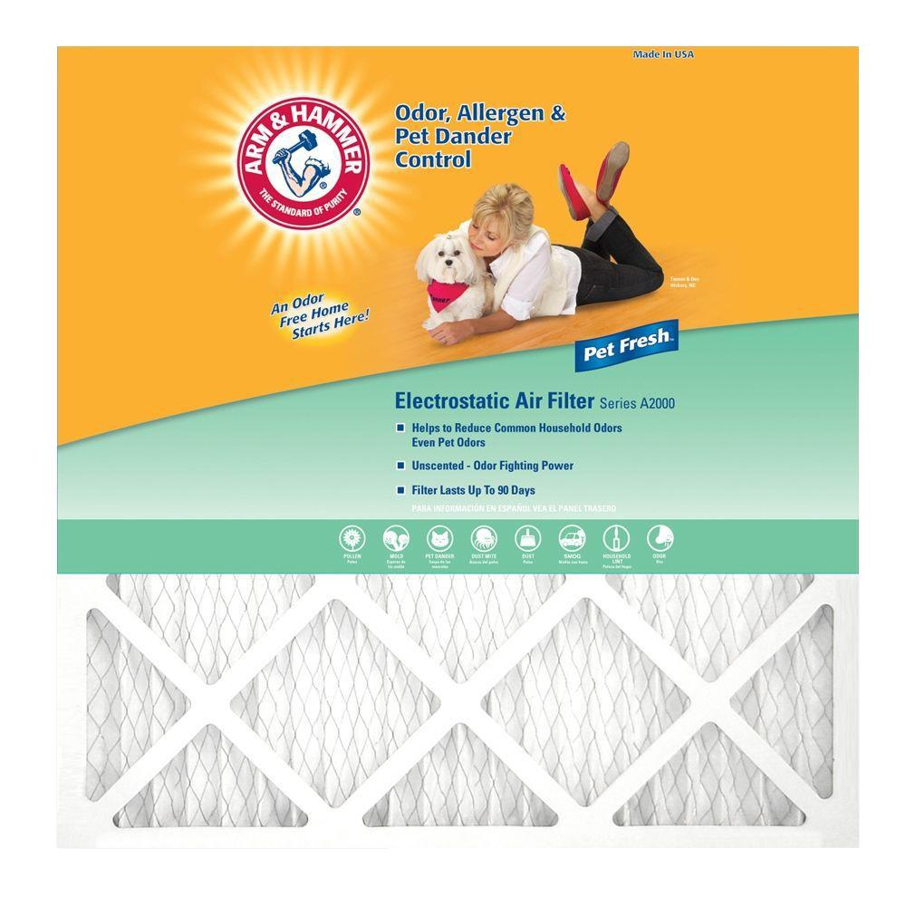 Arm & Hammer 14 in. x 30 in. x 1 in. Enhanced FPR 5 Odor Allergen and Odor Control (4-Pack)