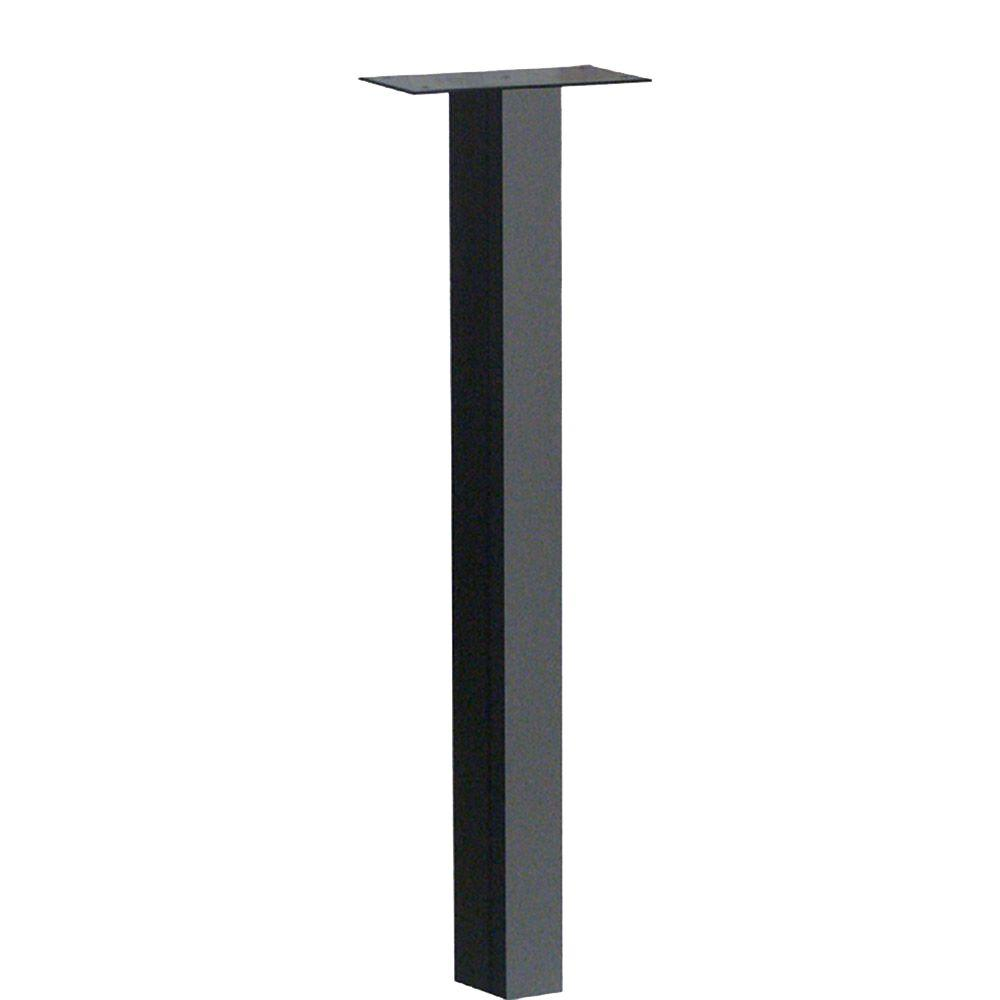46-1/2 in. Standard In-Ground Post in Black