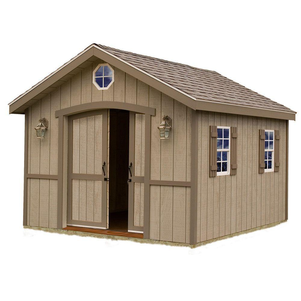 Best barns cambridge 10 ft x 12 ft wood storage shed kit for Garden shed pictures