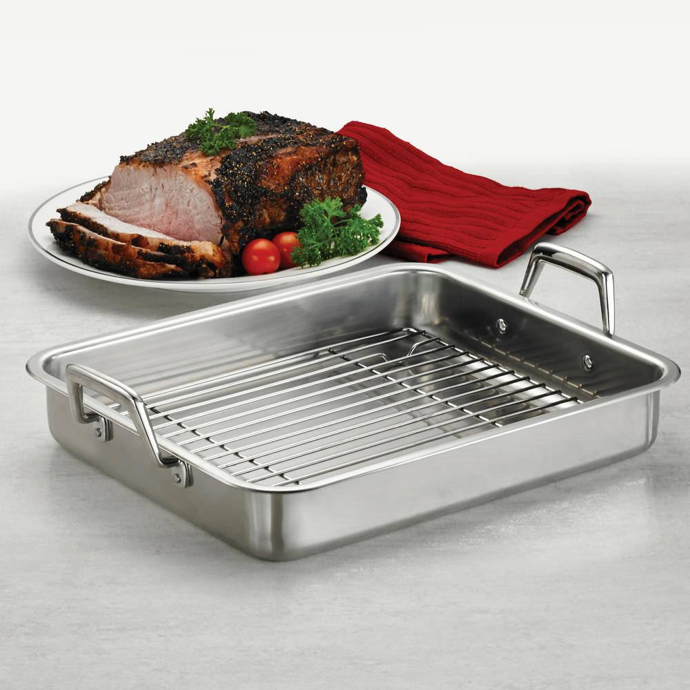 Gourmet Prima 13.5 in. Roasting Pan with Basting Grill