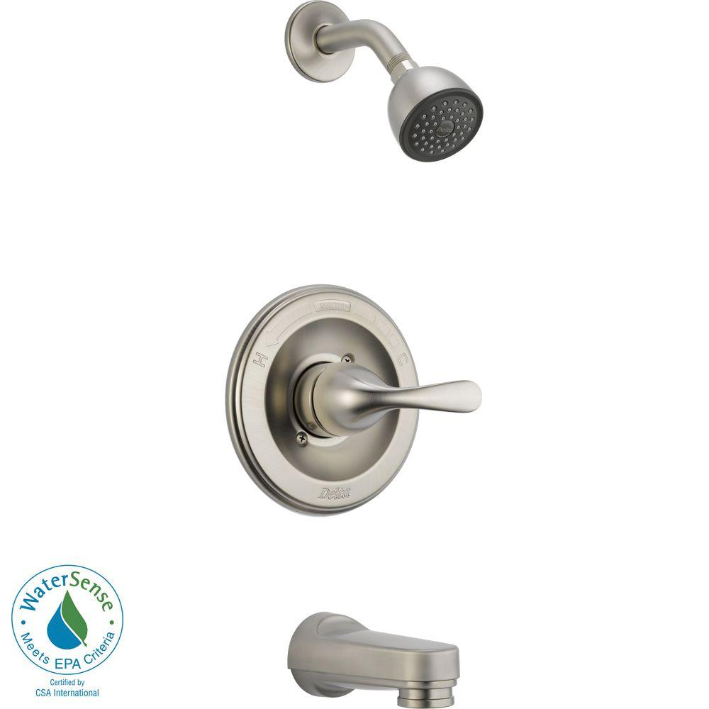 Delta Classic 1-Handle Tub and Shower Faucet Trim Kit in Stainless (Valve Not Included)