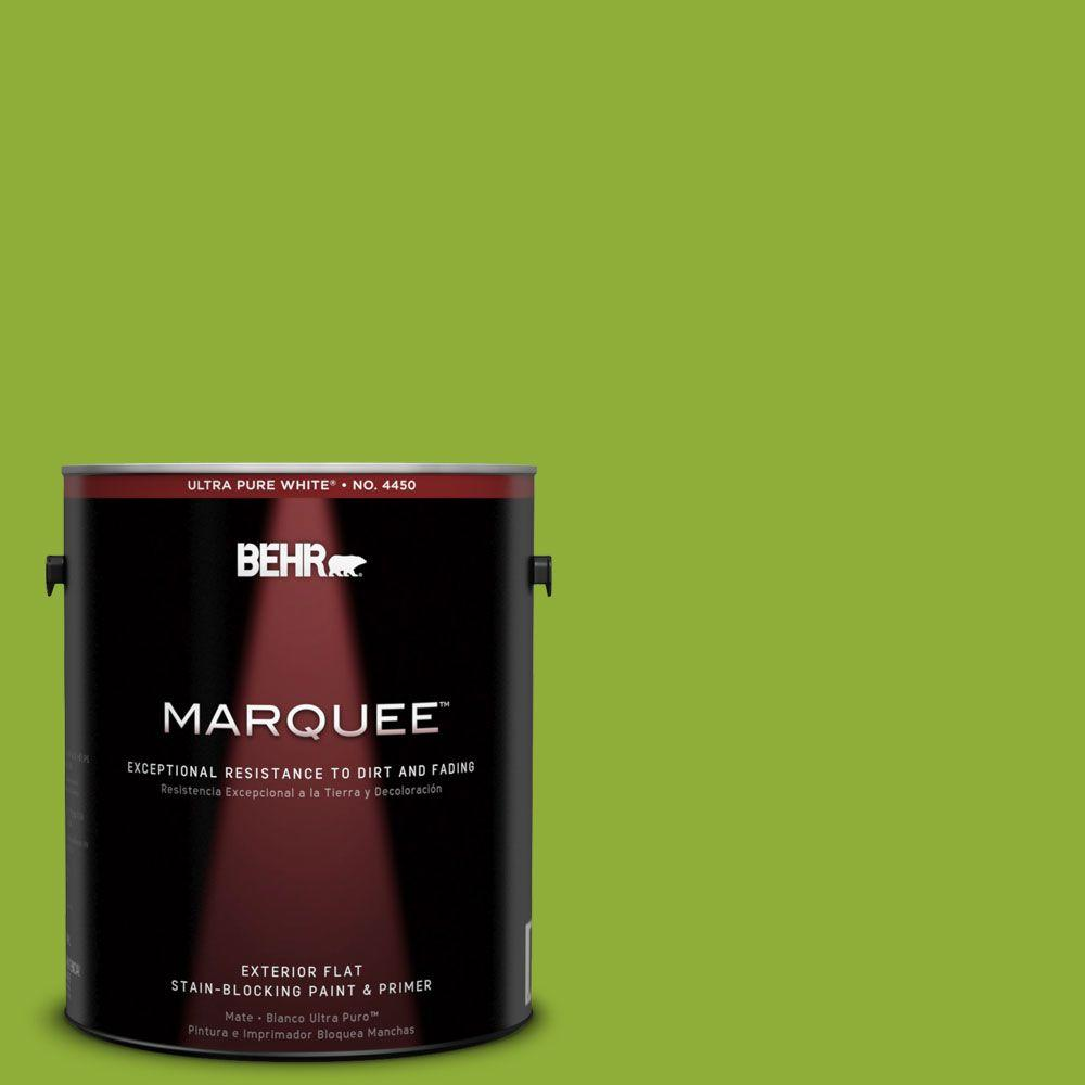 BEHR MARQUEE 1-gal. #420B-6 New Green Flat Exterior Paint-445301 - The