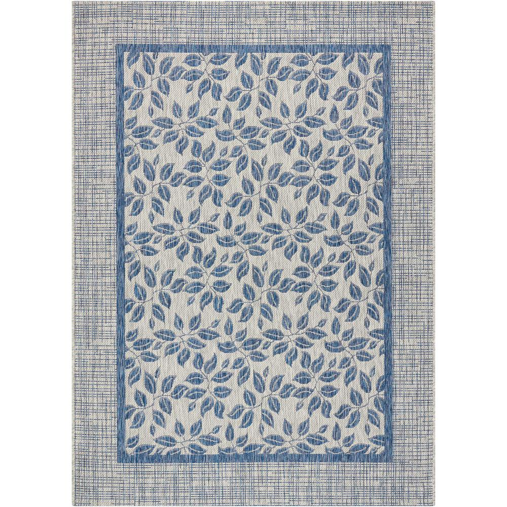 Country Side Ivory Blue 5 ft. 3 in. x 7 ft.