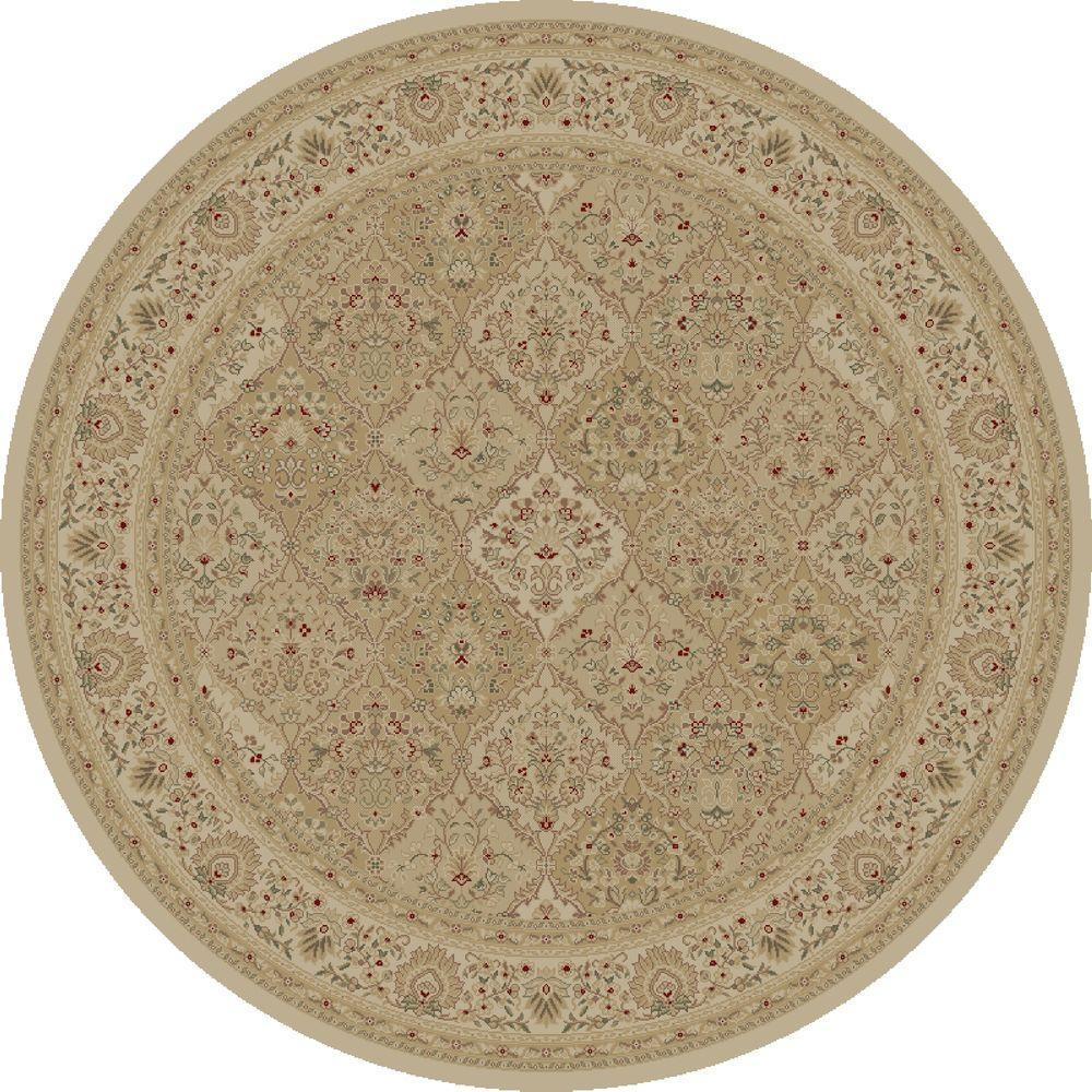 Imperial Kashmir Ivory 7 ft. 10 in. Round Area Rug