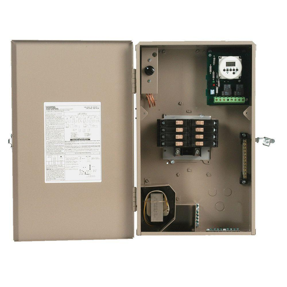 125-Amp 8-Space 8-Circuit Type CH Outdoor Pool Panel