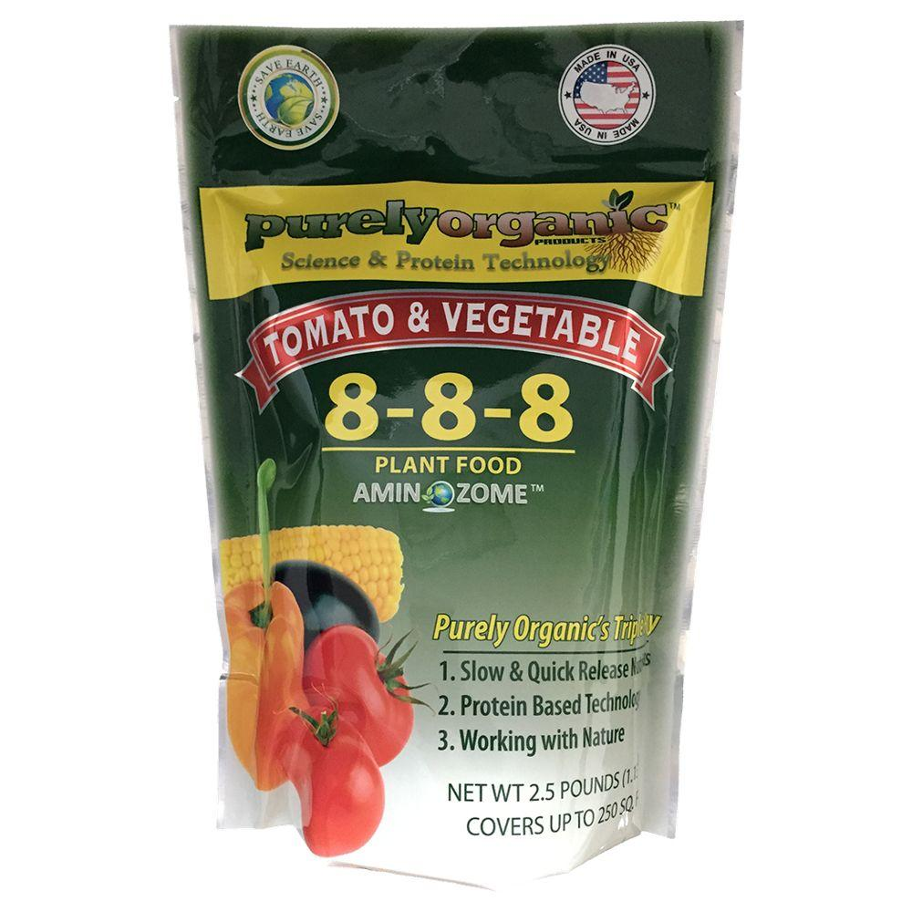 Purely Organic Products Fertilizers 2.25 lbs. Tomato and Vegetable Plant Food TVJRDK1 Organic Tomato Fertilizer, Manure, Compost, Vegetable Soil,  Rake, Cultivator, Hoe, Garden Fork
