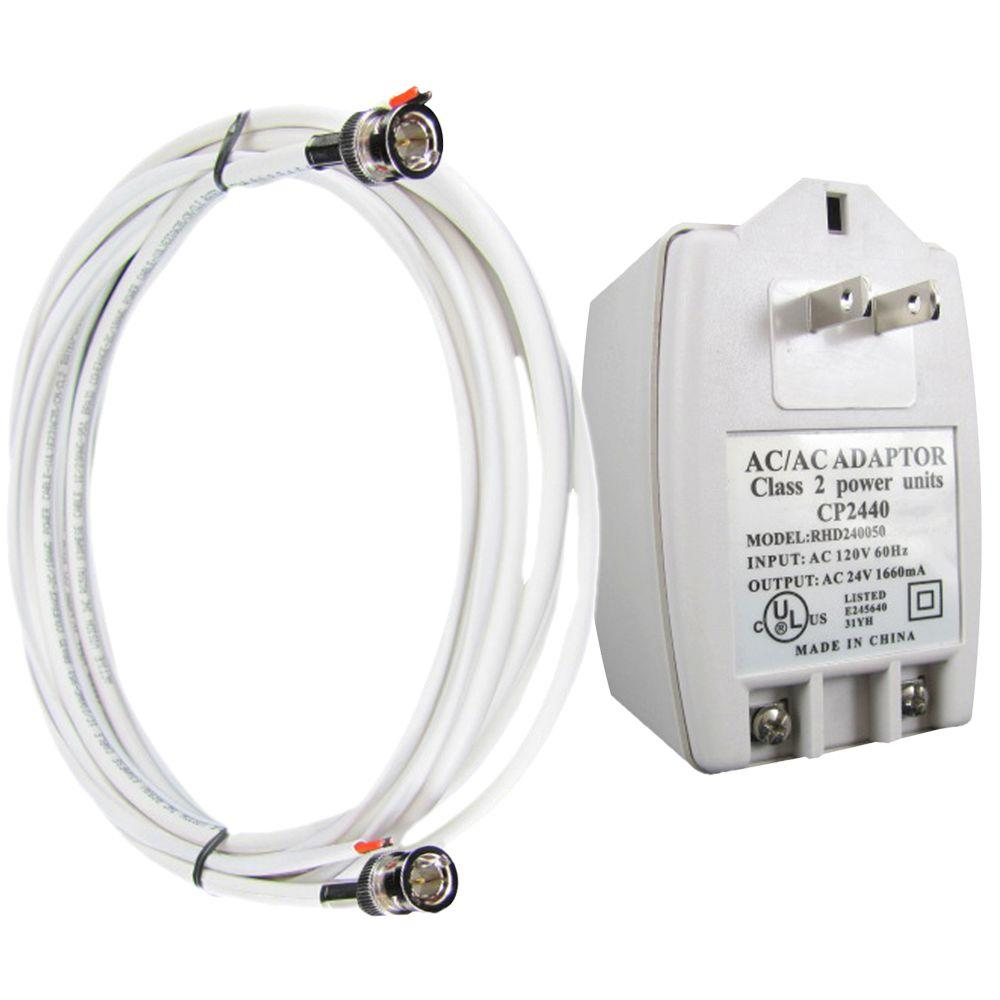 Revo 100 ft. BNC Cable and Power Supply Bundle for Use with Revo 24 Volt Elite Cameras-DISCONTINUED