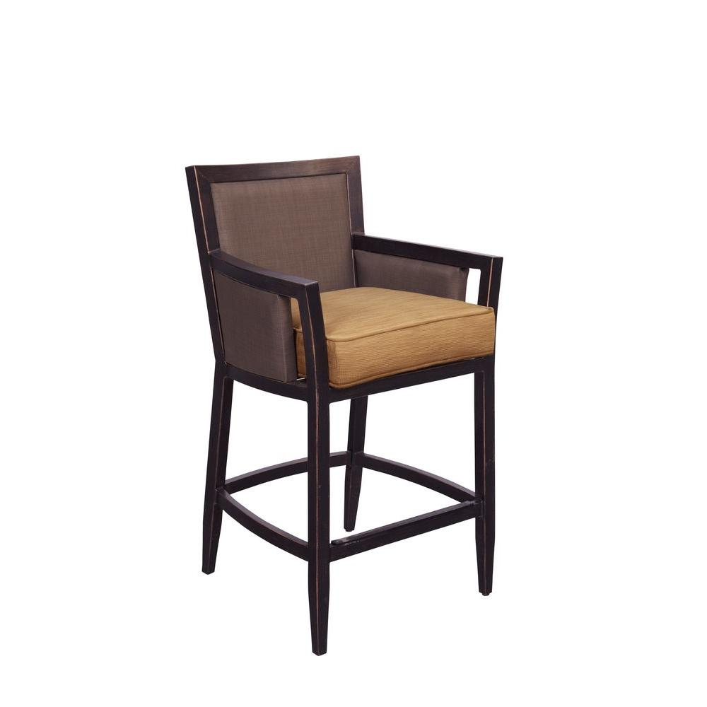 Greystone Patio High Dining Chair in Toffee (2-Pack) -- CUSTOM