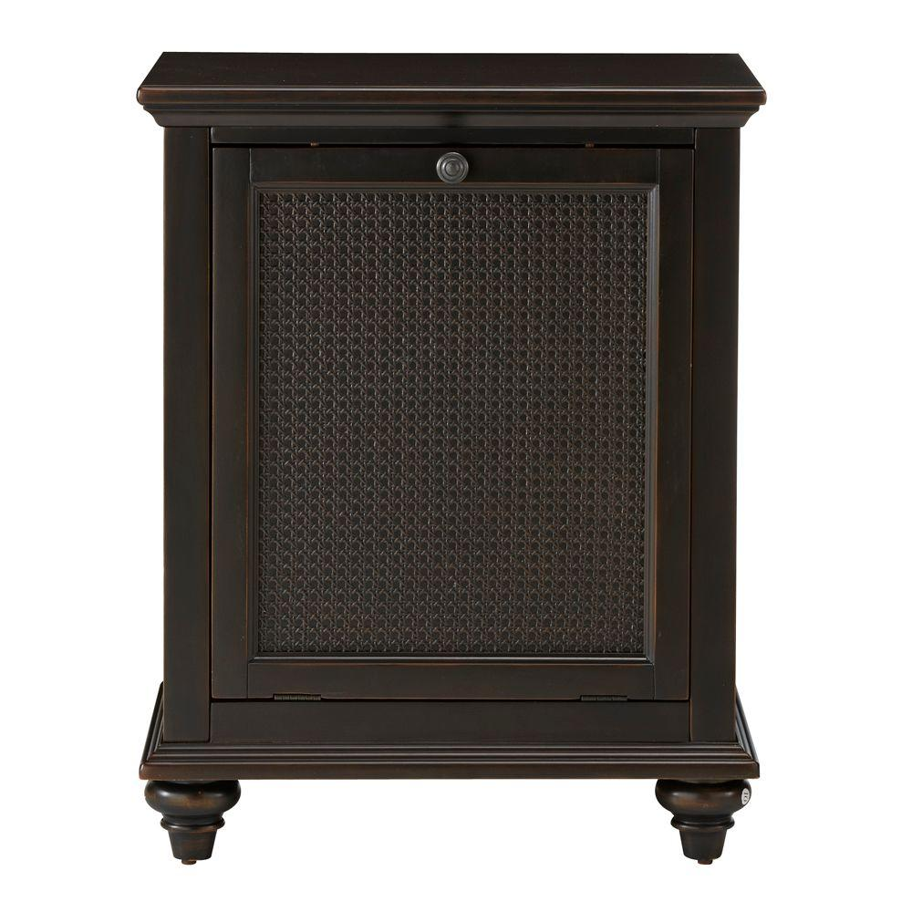 Home Decorators Collection Ansley 24 in. W Tilt-Out Hamper in Worn Black-DISCONTINUED