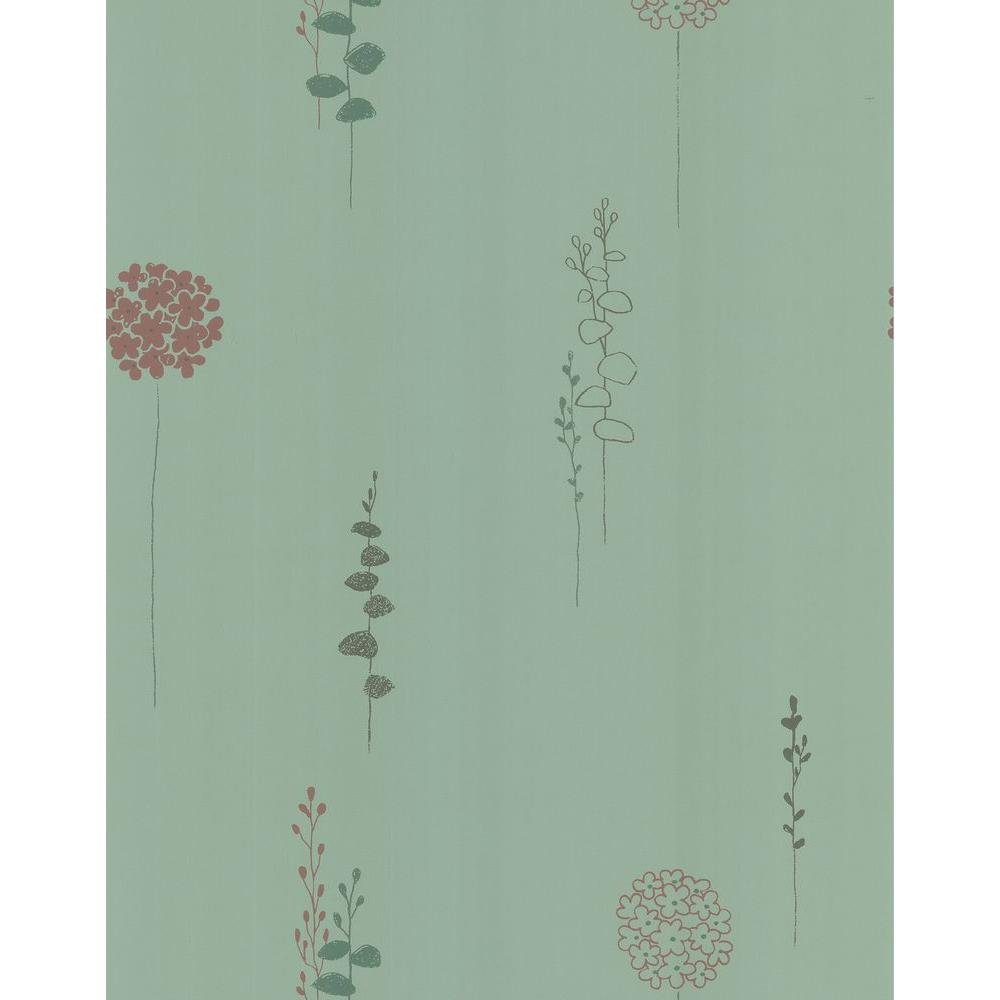 Brewster 56 sq. ft. Lily Of The Nile Wallpaper