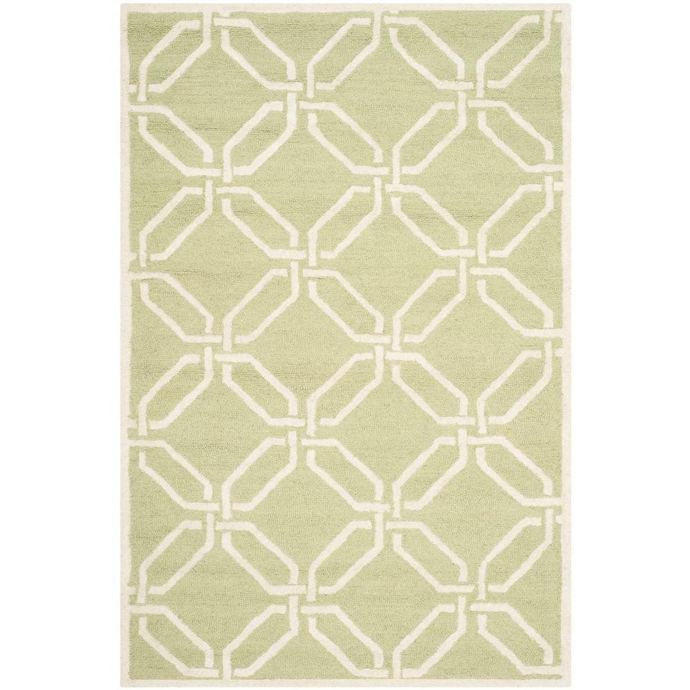 Cambridge Lime/Ivory 4 ft. x 6 ft. Area Rug