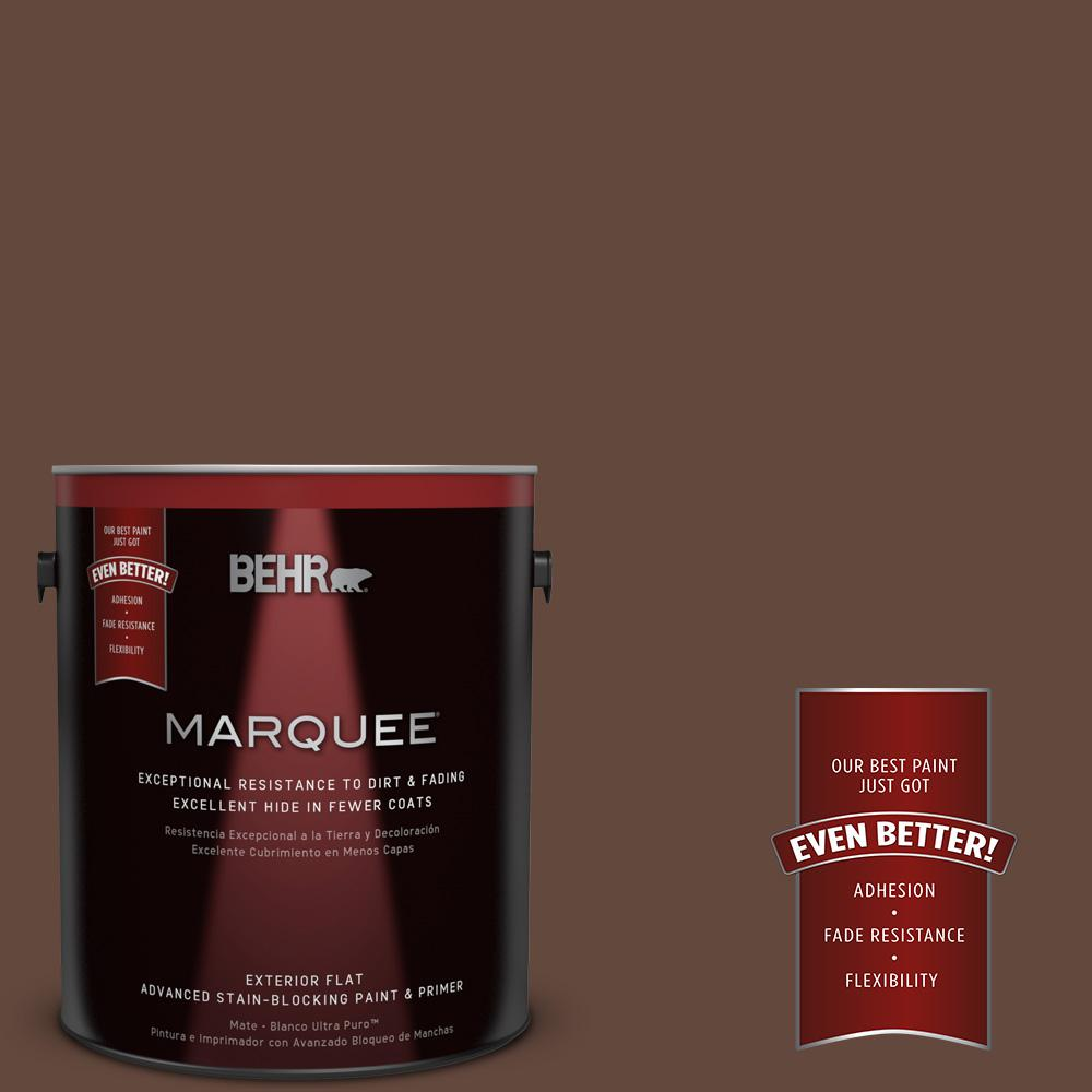 BEHR MARQUEE 1-gal. #770B-7 Chocolate Sparkle Flat Exterior Paint-445301 - The