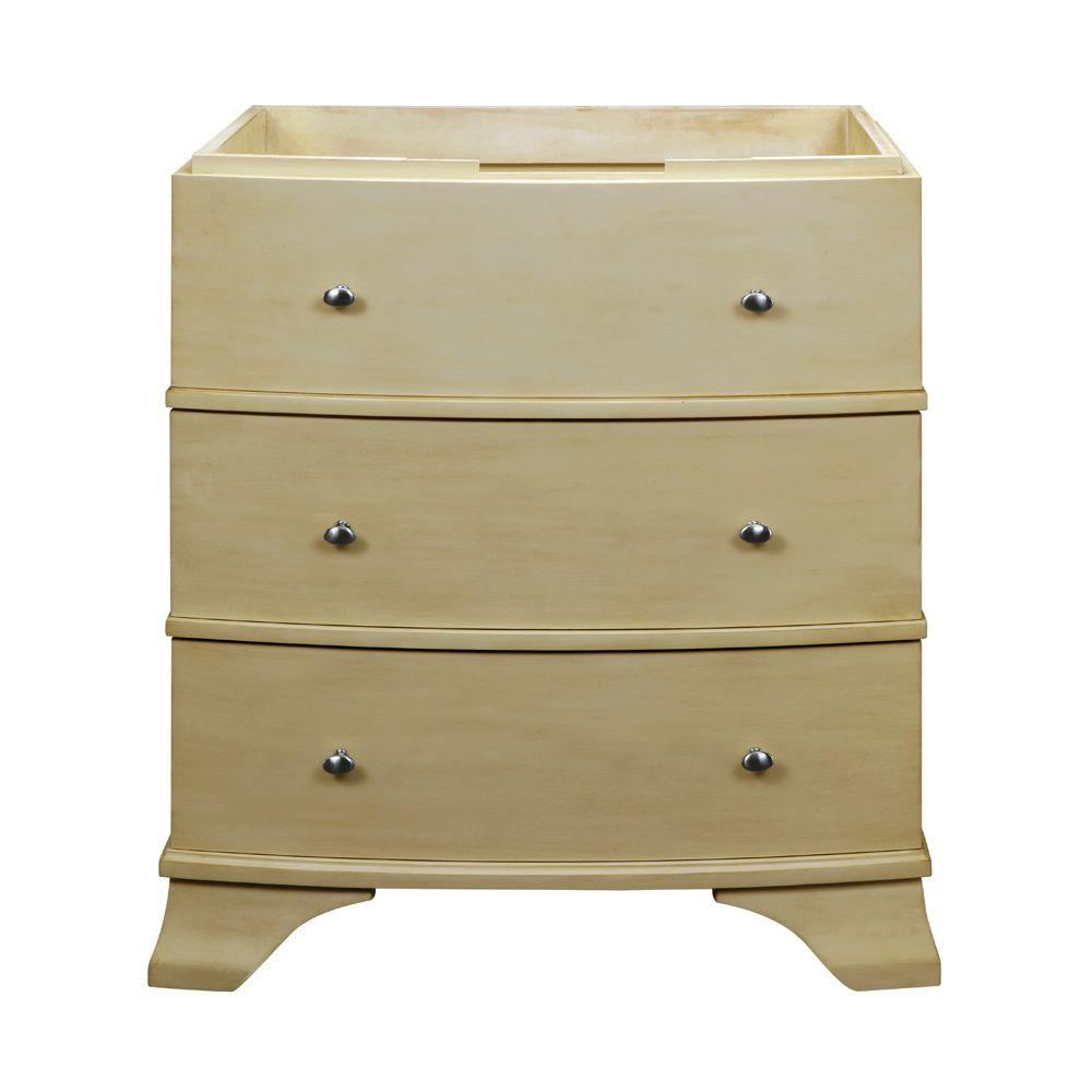 DECOLAV Olivia 32 in. Birch Vanity Cabinet Only in Antique White-DISCONTINUED