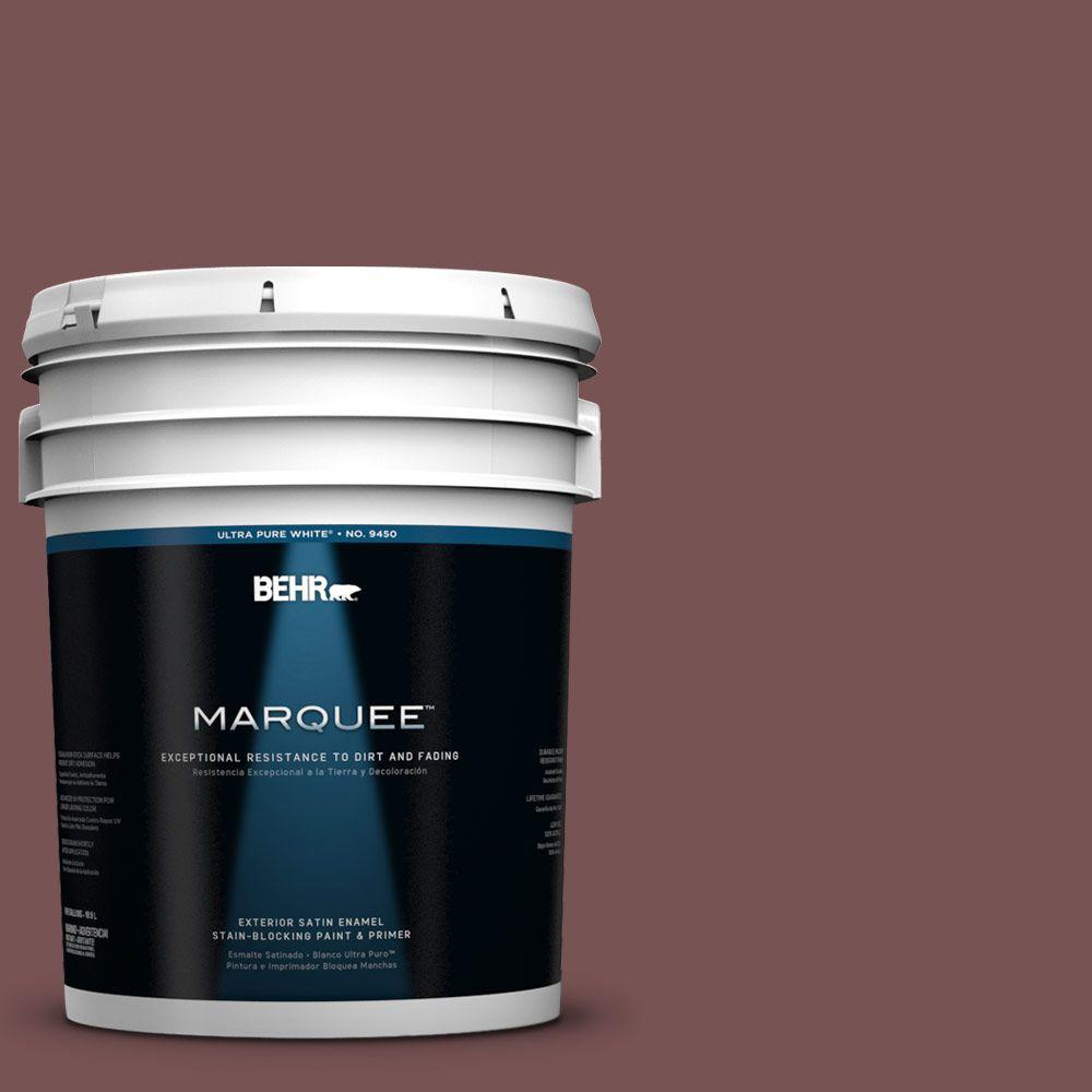 BEHR MARQUEE 5-gal. #120F-6 Japanese Maple Satin Enamel Exterior Paint