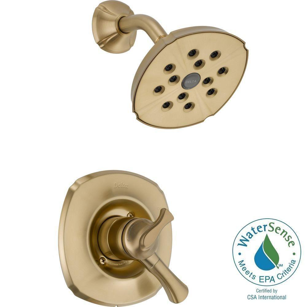 Delta Addison 1-Handle H2Okinetic Shower Only Faucet Trim Kit in Champagne Bronze (Valve Not Included)