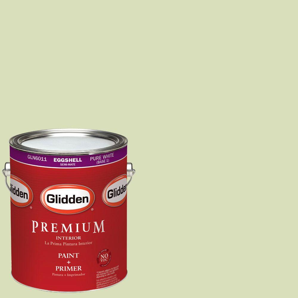 1-gal. #HDGG32 Pistachio Ice Cream Eggshell Latex Interior Paint with Primer