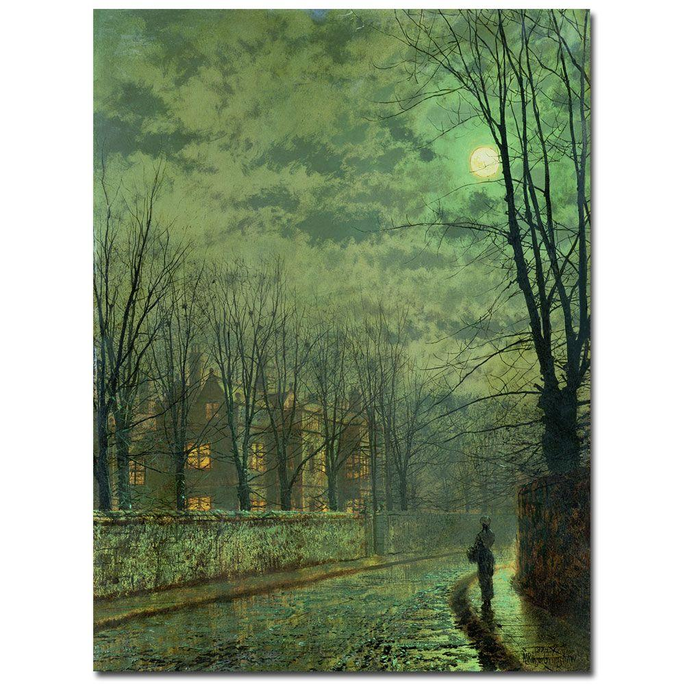 18 in. x 24 in. Going Home by Moonlight Canvas Art