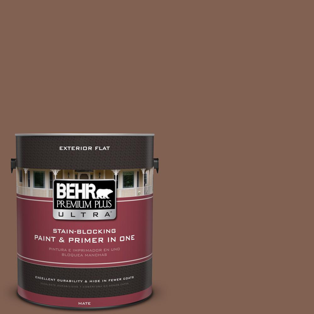 BEHR Premium Plus Ultra 1 gal. #hdc-SP14-6 Tilled Earth Flat Exterior Paint