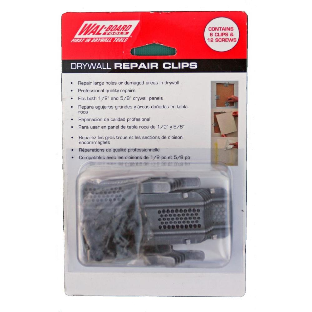 How to repair large hole in drywall - Wal Board Tools Drywall Repair Clip 6 Pack