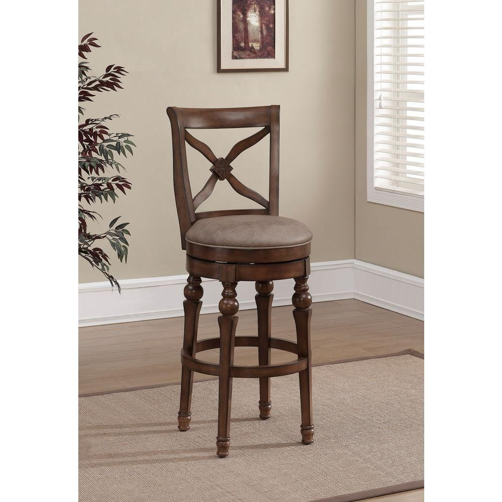 American Heritage Livingston 26 in. Counter Stool in Sienna/Camel-111208 - The