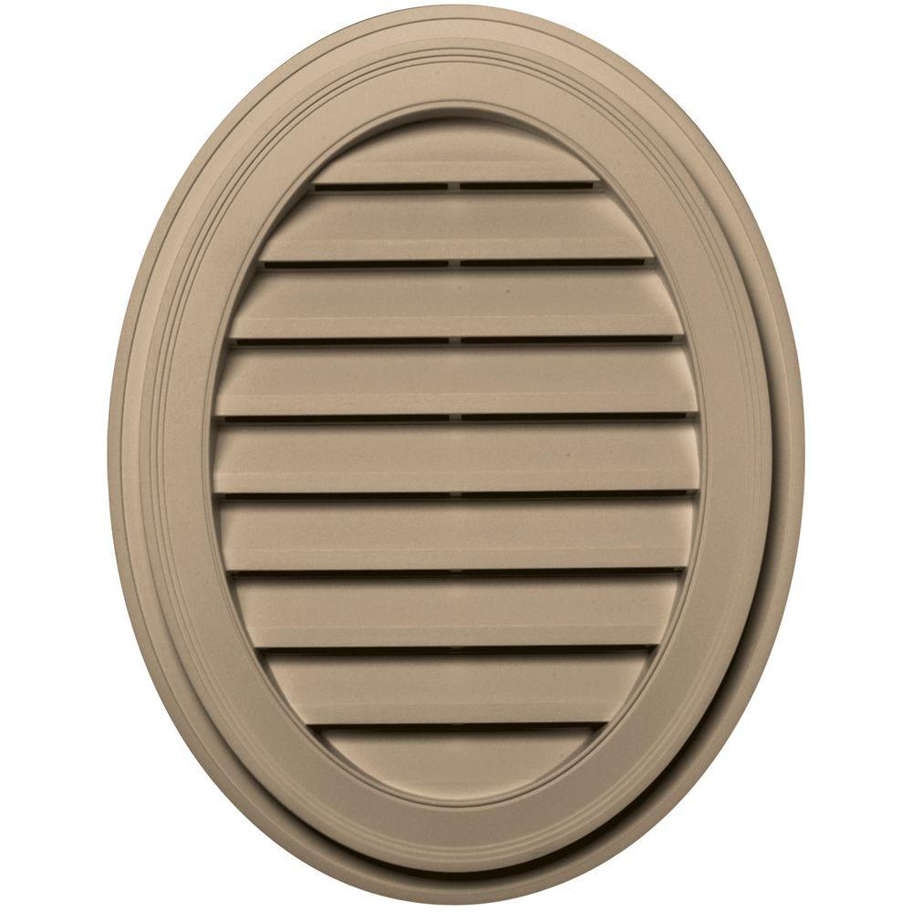 Builders Edge 27 in. Oval Gable Vent in Tan