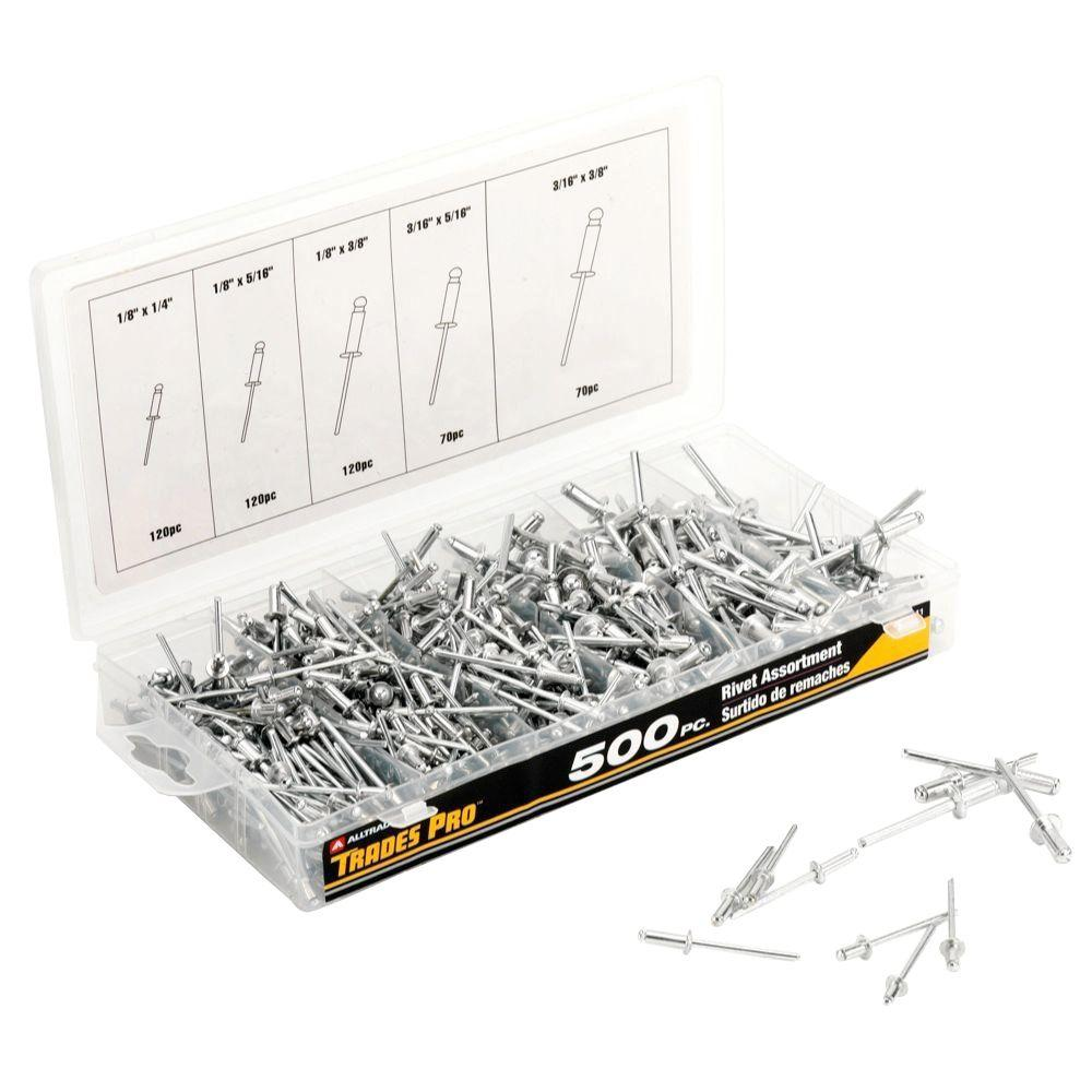 Rivet Assortment (500-Piece)
