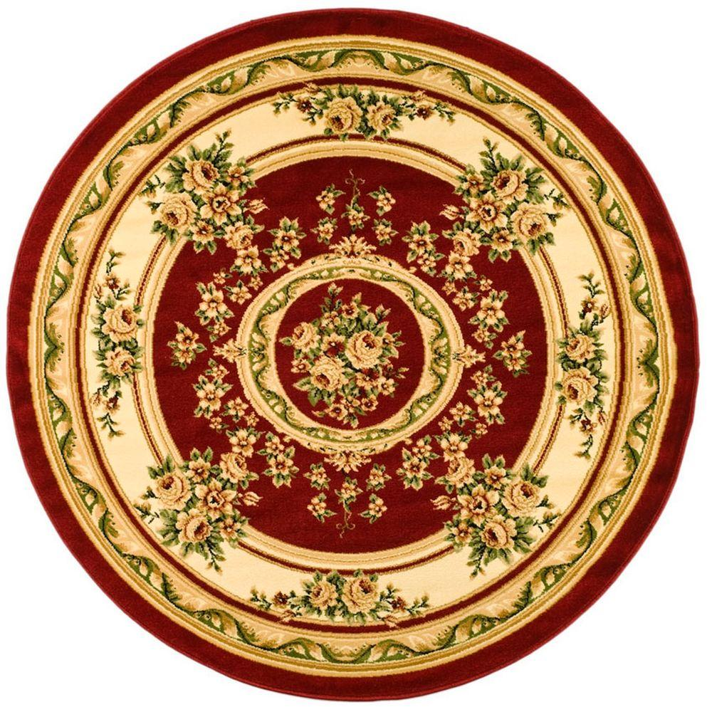 Safavieh Lyndhurst Red/Ivory 5 ft. 3 in. x 5 ft. 3 in. Round Area Rug