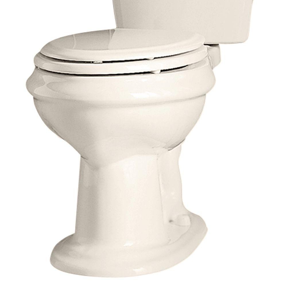 American Standard Collection Elongated Toilet Bowl Only with Seat in Linen