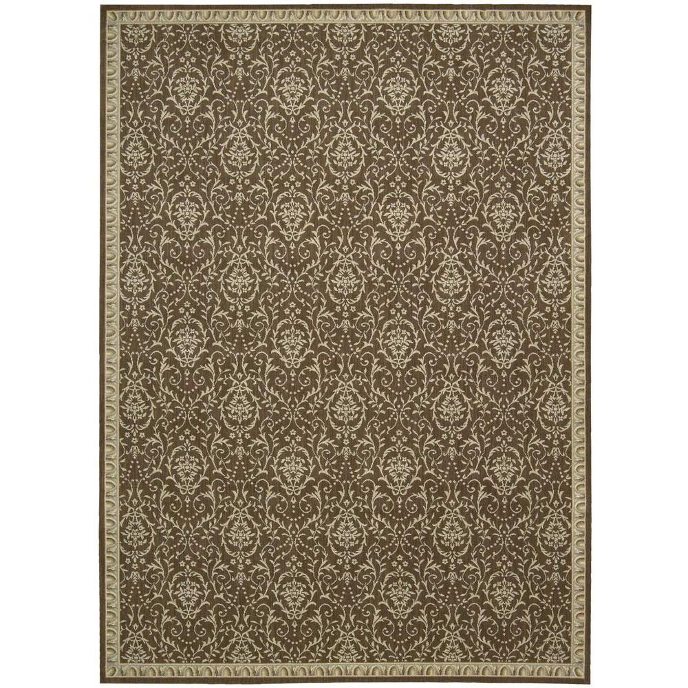 Nourison Riviera Dark Chocolate 3 ft. 6 in. x 5 ft. 6 in. Area Rug