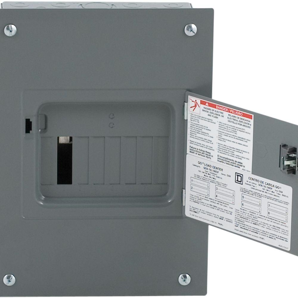 QO 100 Amp 8-Space 16-Circuit Indoor Flush Mount Main Lug Load