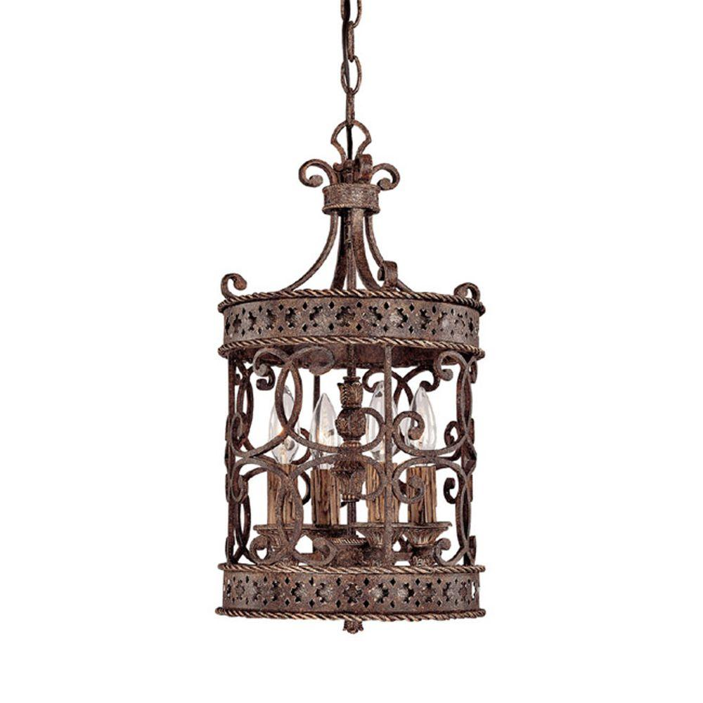Filament Design 4-Light Crusted Umber Foyer Pendant-DISCONTINUED