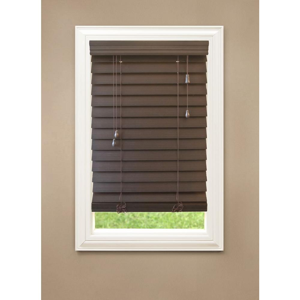 home decorators collection blinds home depot home decorators collection espresso 2 1 2 in premium faux 13430