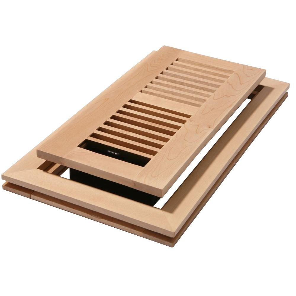 Decor Grates 2 in. x 12 in. Unfinished Maple Louvered Flushmount Register