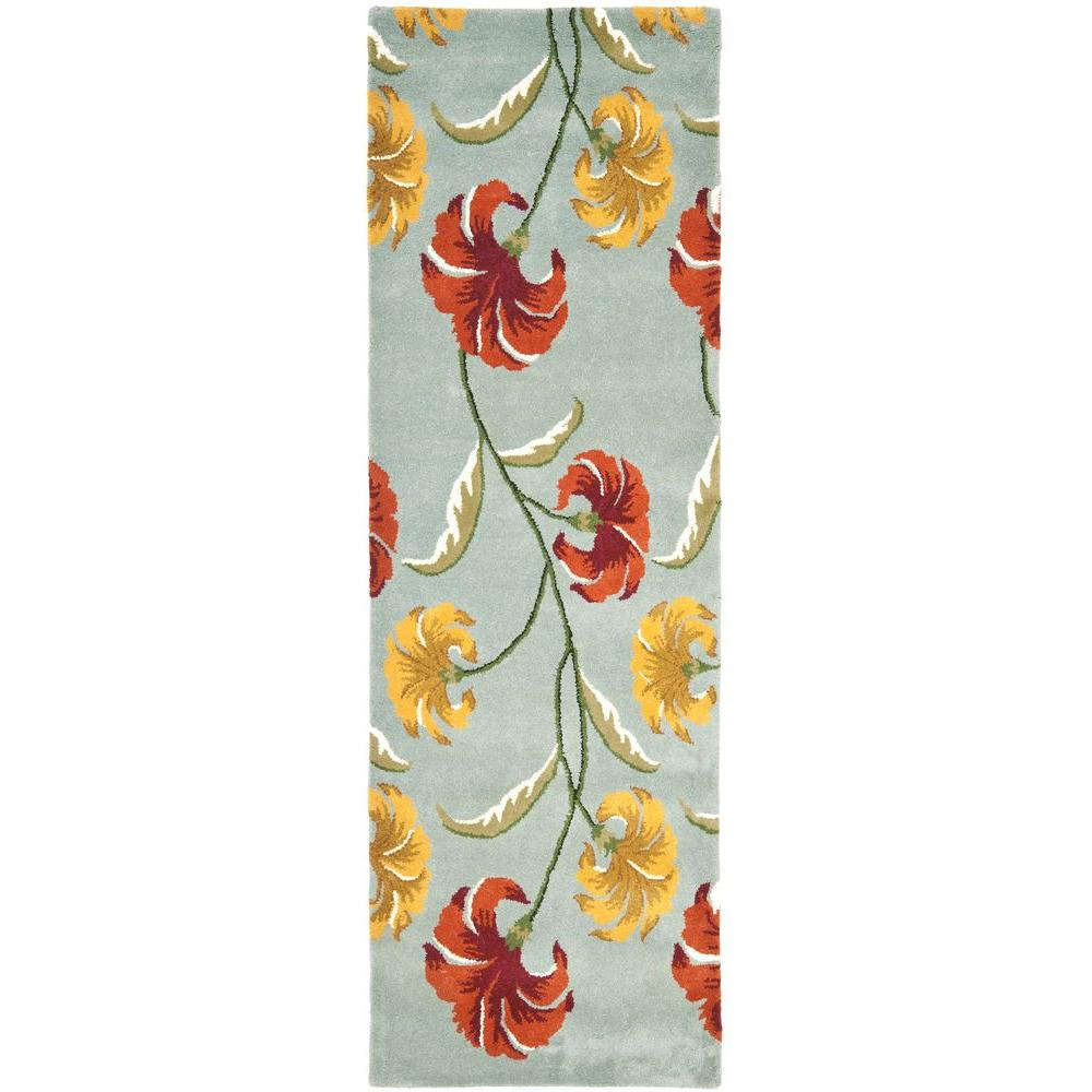 Safavieh Soho Blue/Multi 2 ft. 6 in. x 8 ft. Runner