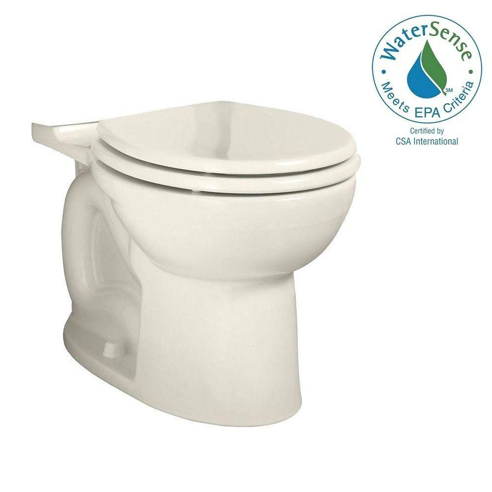 Cadet 3 FloWise Chair Height Round Toilet Bowl Only in Linen