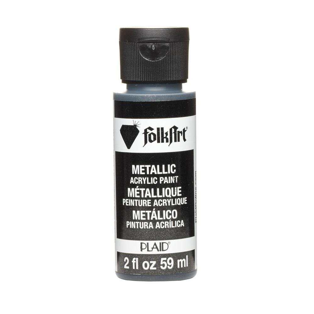 FolkArt 2 oz. Sequin Black Metallic Craft Paint