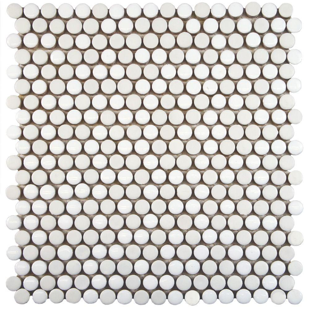 Comet Penny Round White 11-1/4 in. x 11-3/4 in. x 9
