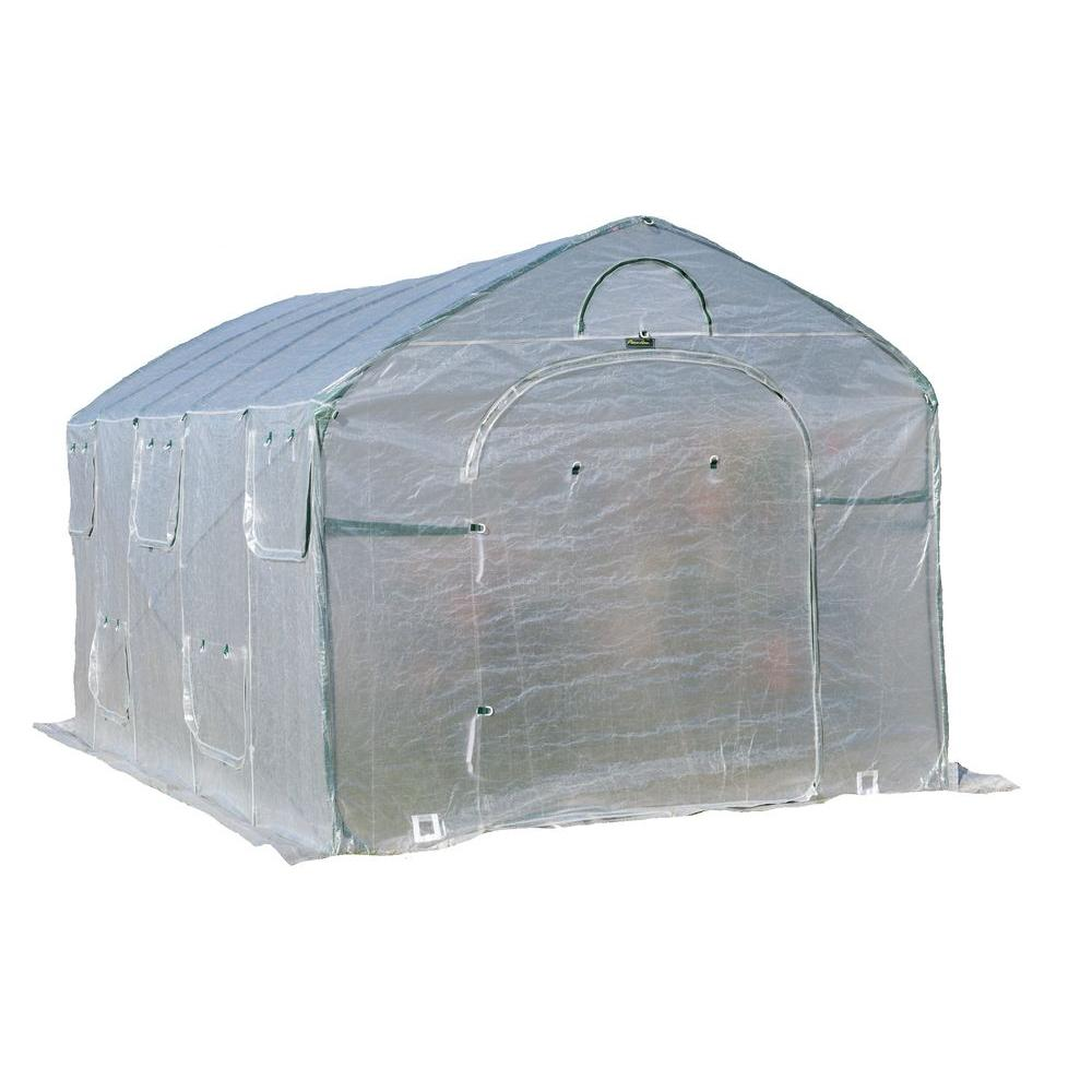 FlowerHouse Greenhouses GRO-TEC 8 ft. H x 9 ft. W x 15 ft. D XL Pop-Up Greenhouse FHFH8915XL Greenhouse, Hoop House, Grow House, High Tunnel, Hothouse, Plant House, Grow Tunnel, Garden Supplies