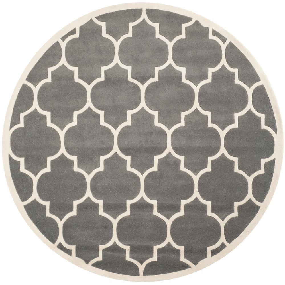 Chatham Dark Gray/Ivory 8 ft. 9 in. x 8 ft. 9