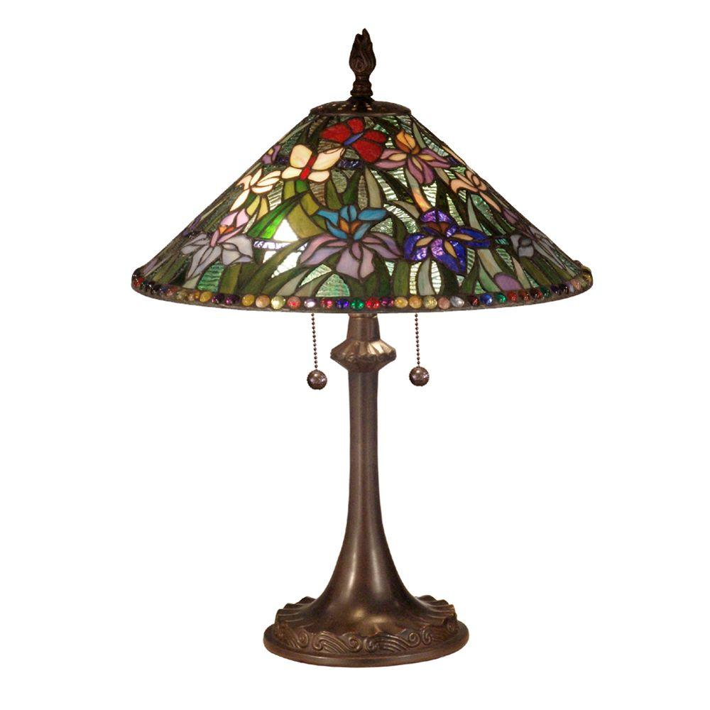 Dale Tiffany Tiffany 2-Light Antique Bronze Table Lamp-DISCONTINUED