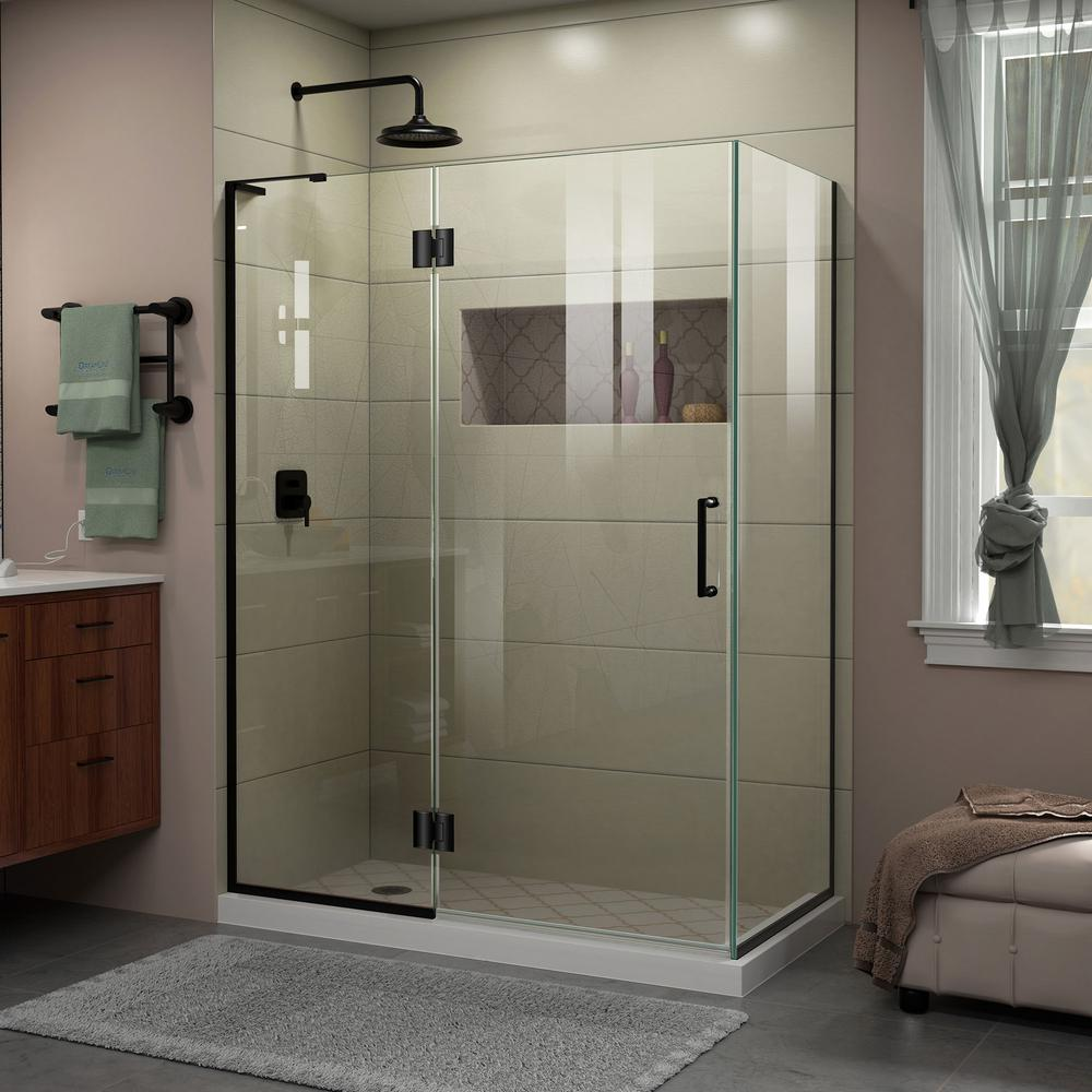 Unidoor-X 47-3/8 in. x 72 in. Frameless Corner Hinge Shower Enclosure