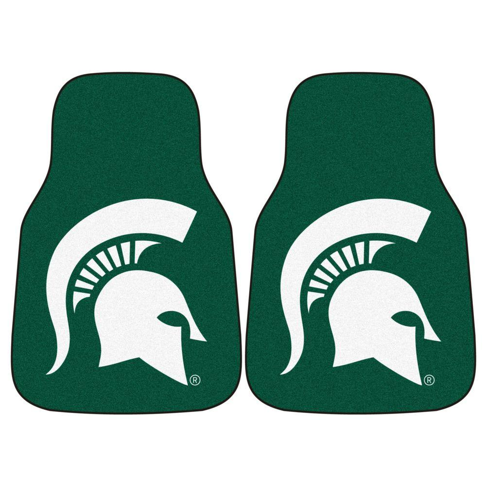 Michigan State University 18 in. x 27 in. 2-Piece Carpeted Car