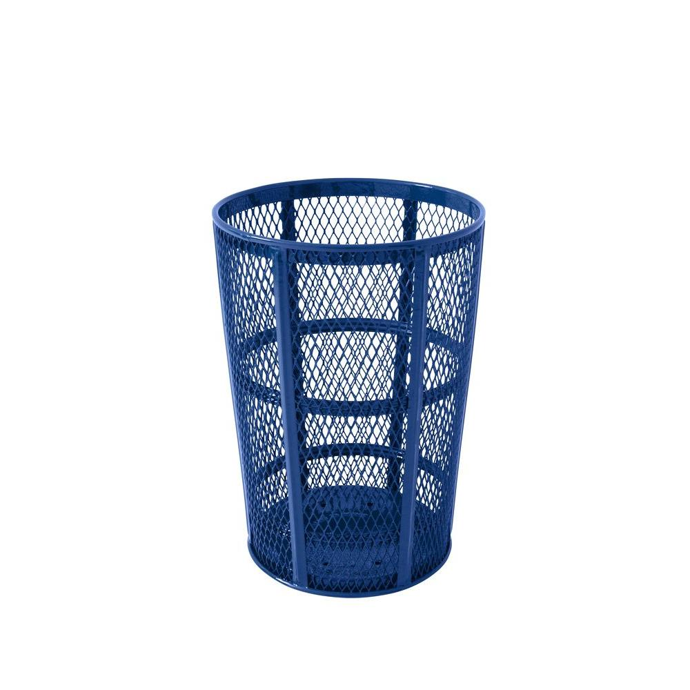 Portable 45 Gal. Blue Diamond Commercial Trash Can