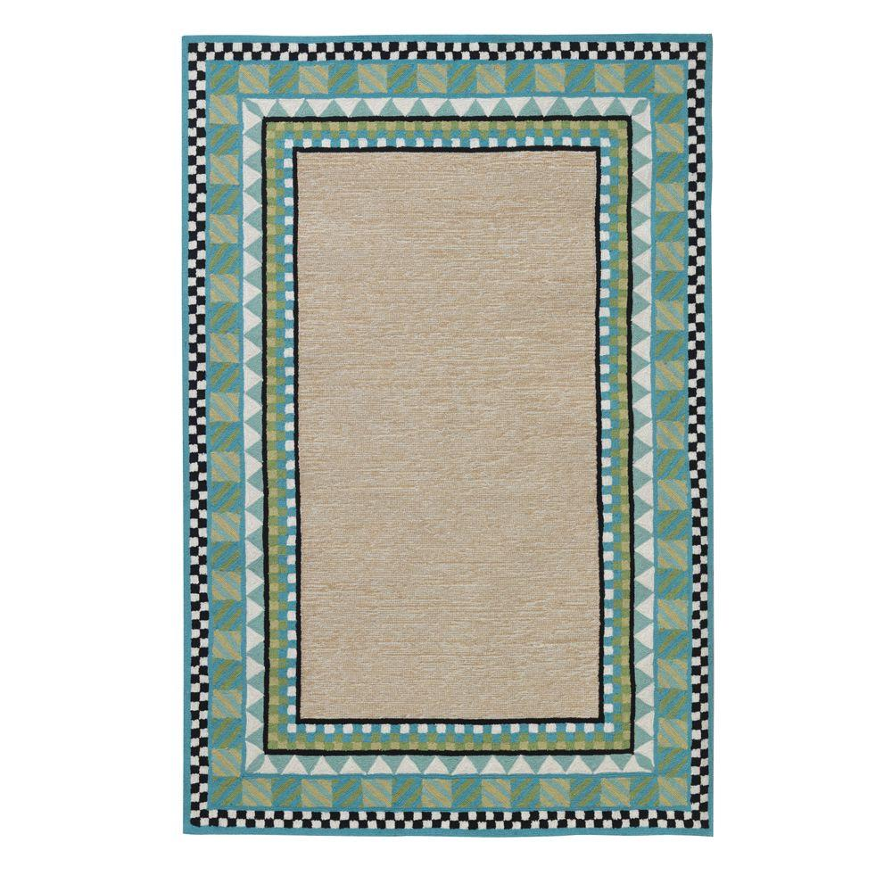 Home Decorators Collection Whimsy Light Blue 3 ft. 6 in. x 5 ft. 6 in. Area Rug