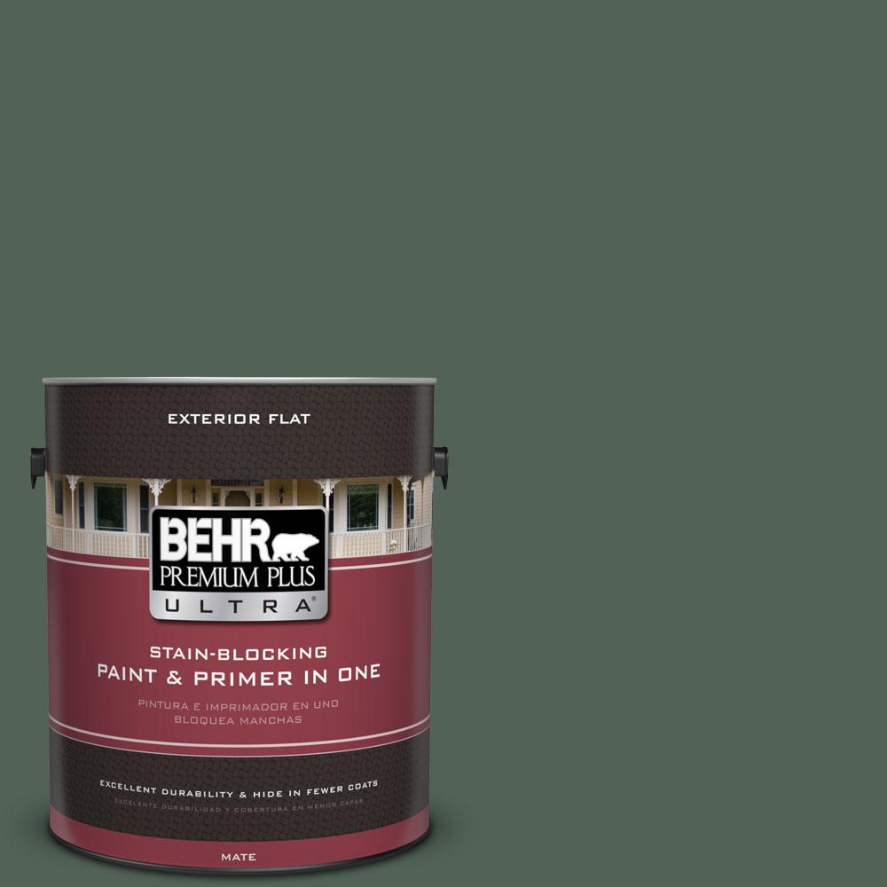 1-gal. #460F-6 Medieval Forest Flat Exterior Paint