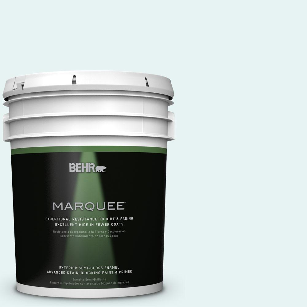 BEHR MARQUEE 5-gal. #BL-W4 Ethereal White Semi-Gloss Enamel Exterior
