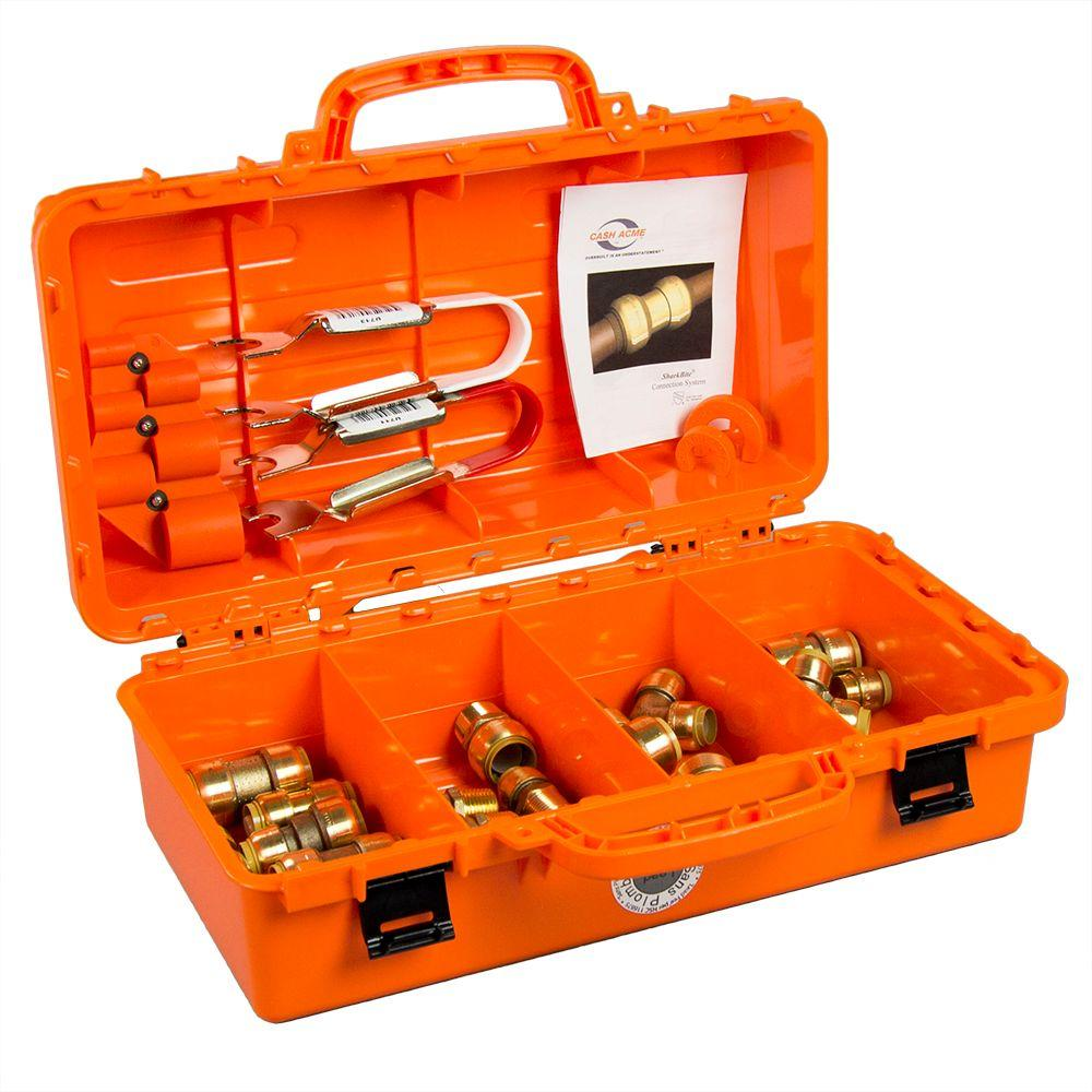 SharkBite 1/2 in. and 3/4 in. Push-to-Connect Contractor Toolbox Kit-22486LF -